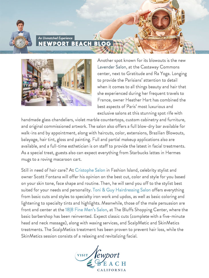 Visit Newport Beach Blog blog lavender salon press